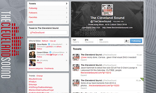 The Cleveland Sound Twitter