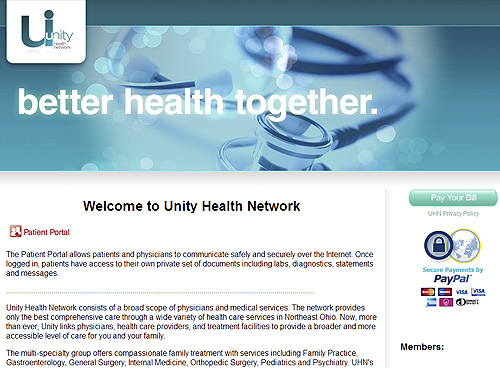 Unity Health Network ELASTIC DESIGN