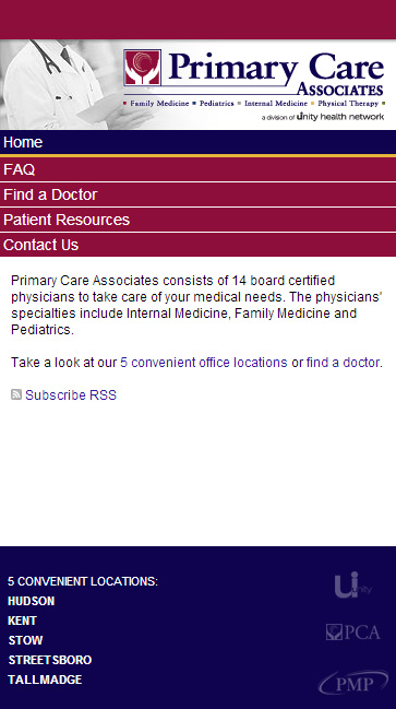 Primary Care Associates MOBILE SITE