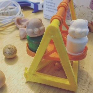 Sculpt and first cast in a fisher price little people swingset