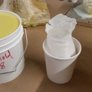 My wax hand mold ready for the gel pour