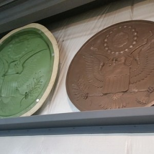 GIANT mold and cast of a coin