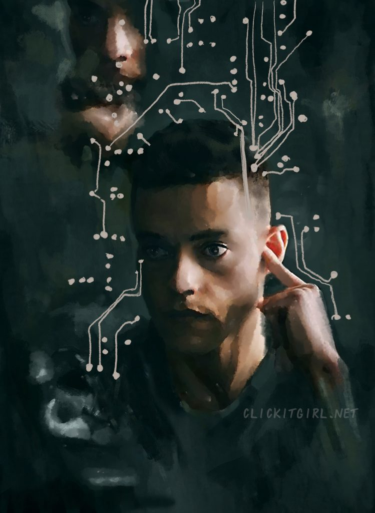 Rami Malek as Elliot in Mr. Robot